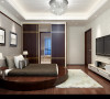 主卧地面用木地板,简约时尚,灰色的床头背景墙,个性简单。