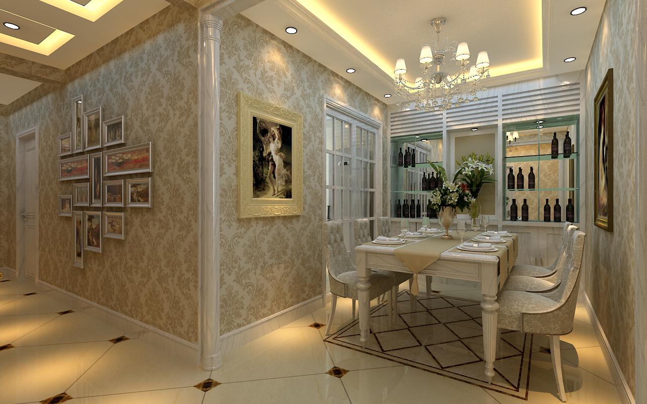 小资 80后 白领 三居 欧式 餐厅图片来自元洲装饰小左在龙湖时代天街130平米简欧风格的分享
