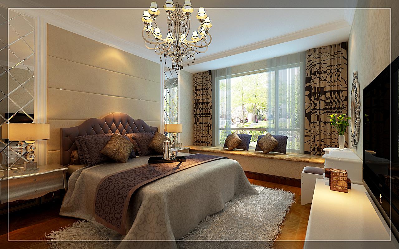 小资 80后 白领 三居 欧式 卧室图片来自元洲装饰小左在龙湖时代天街130平米简欧风格的分享