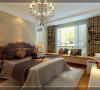 此房间为父母的居住空间,所以整体的装饰和色调稳重大气。