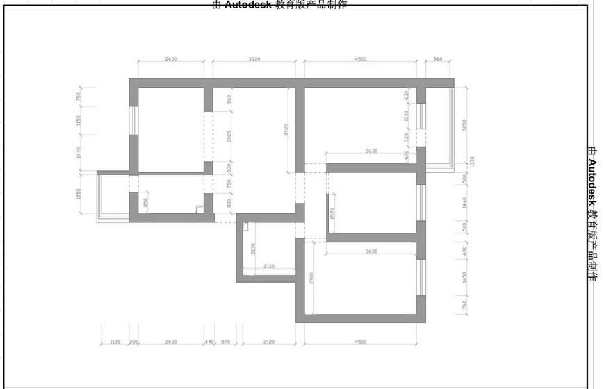 现代简约风 老房装修 西三旗装修 今朝装饰 装修设计 户型图图片来自北京今朝装饰在黑白生活--100平米三居室装修的分享