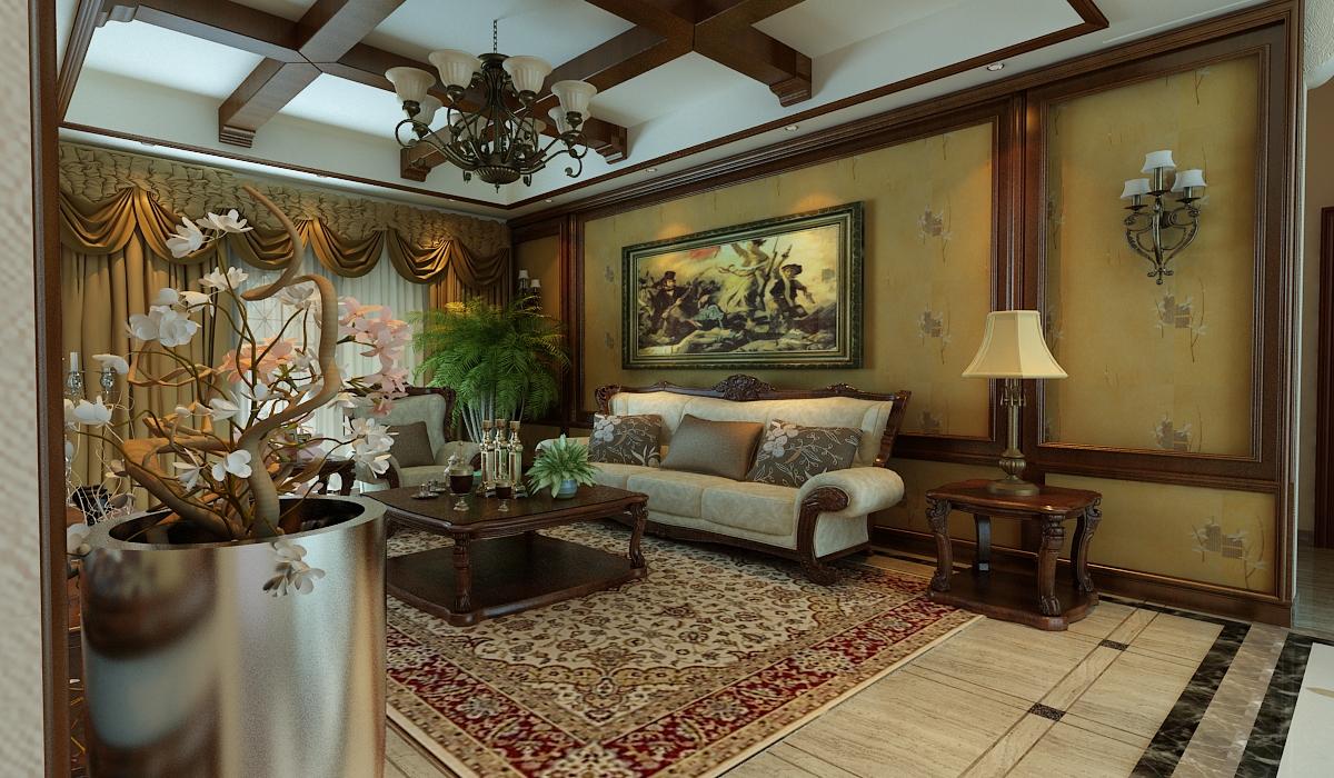 欧式 田园 小资 白领 旧房改造 客厅图片来自元洲装饰小左在建邦花园120平米欧式田园的分享