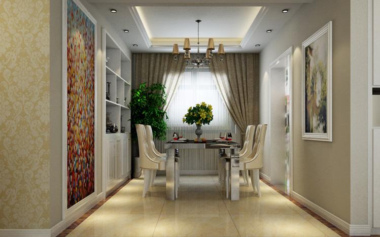 简约 四居室 餐厅图片来自郑州实创装饰-杨淑平在警察学院家属院四居室装修效果图的分享