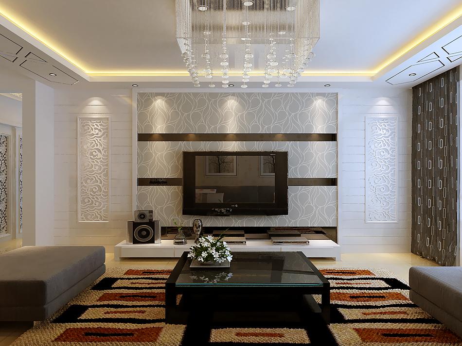 简约 一居 客厅图片来自实创装饰上海公司在49平一居室现代简约风格的分享