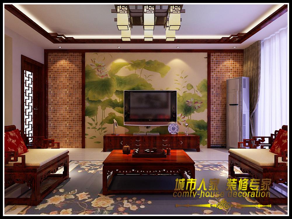 三居 简约中式 海龙湾 海棠湾 客厅图片来自石家庄装修装饰设计公司在时光回朔 享受安宁的分享