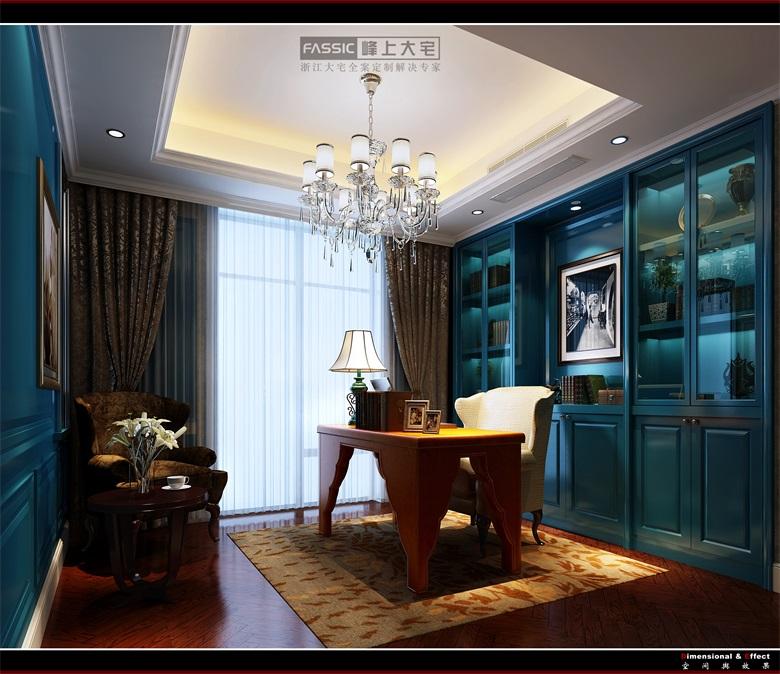 书房图片来自建极峰上大宅装饰杭州公司在柯桥嘉华馥园欧式风格的分享