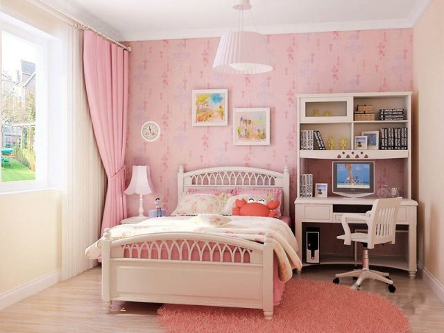 韩版 田园 卧室图片来自在长沙生活的外地人13875251081在韩版风格公主房的分享