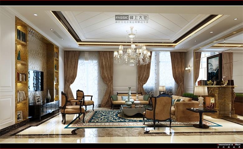 客厅图片来自建极峰上大宅装饰杭州公司在柯桥嘉华馥园欧式风格的分享