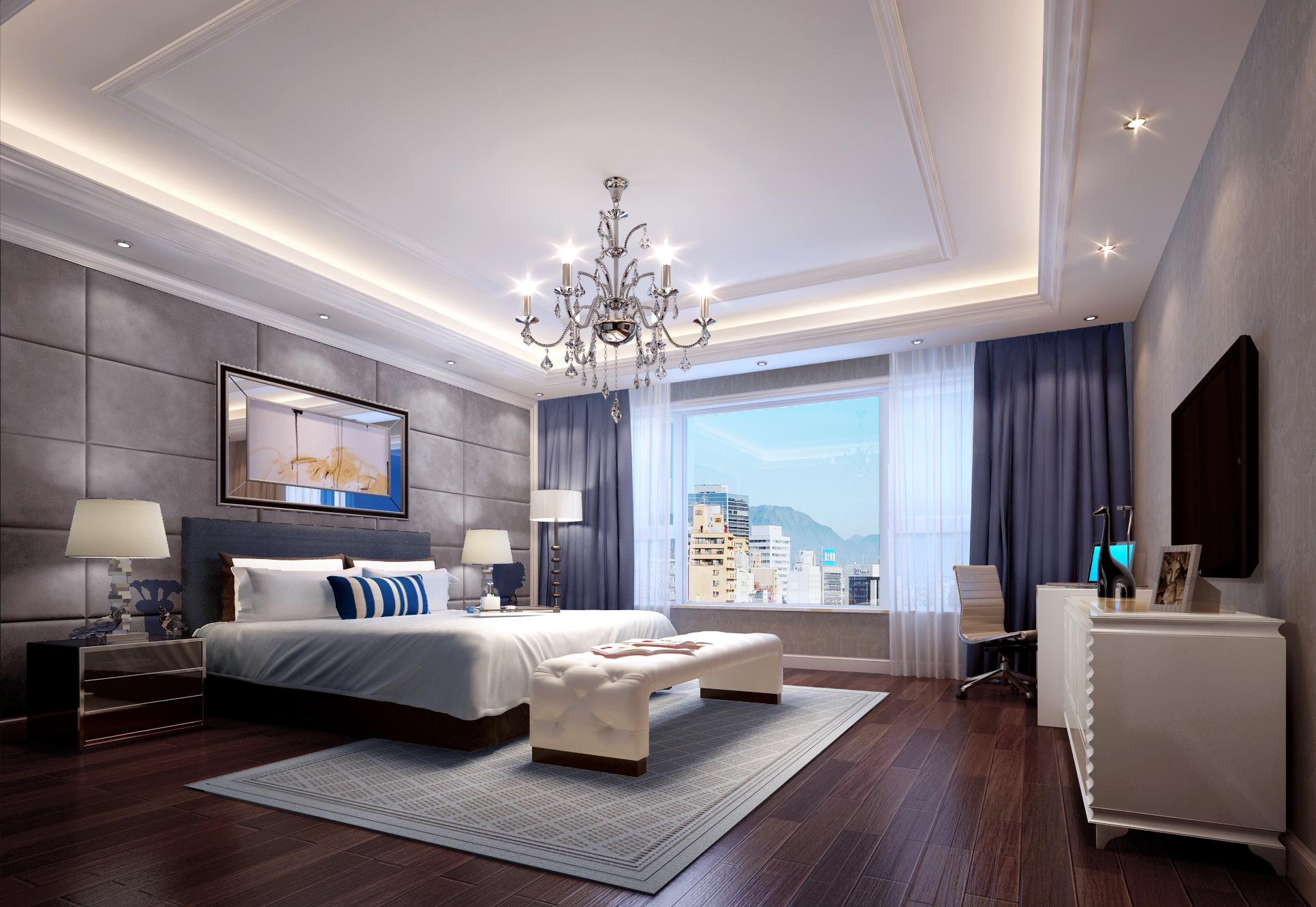 欧式 简约 别墅 西山别墅 软装配饰 卧室图片来自尚层装饰张迪在120万帮您打造450平全案欧式风格的分享
