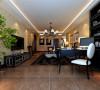 客厅在形式上以浪漫主义为基础,运用大理石地面、华丽多彩的织物、精美的地毯、 多姿曲线的家具,让室内显示出豪华、富丽的特点,充满强烈的动感效果。