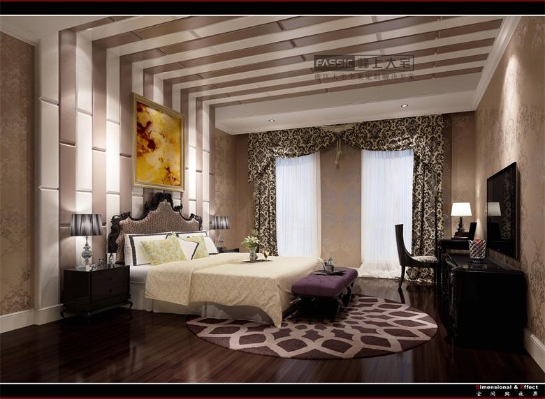 卧室图片来自建极峰上大宅装饰杭州公司在柯桥嘉华馥园欧式风格的分享