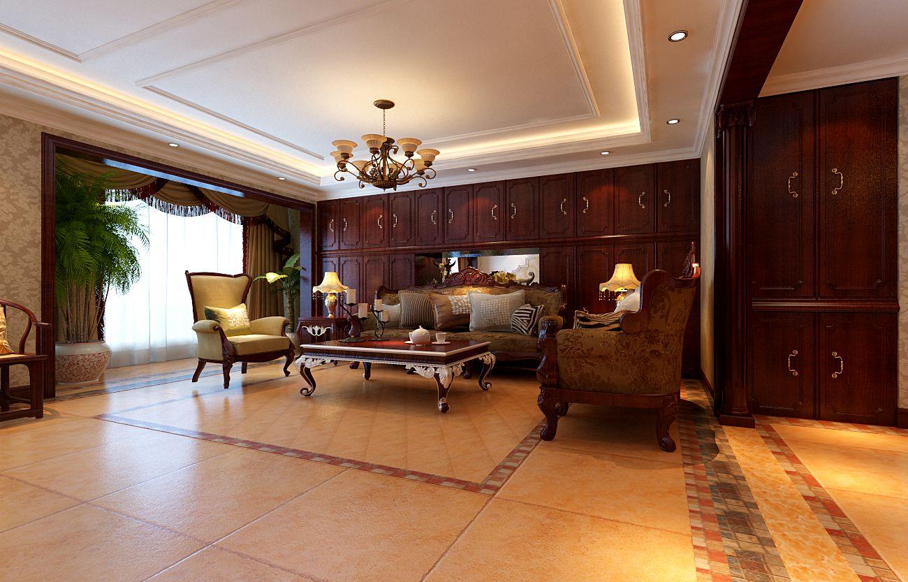 欧式 四居 白领 奢华 浪漫 温馨 客厅图片来自实创装饰都琳在北坞嘉园146平雅典娜的浪漫的分享