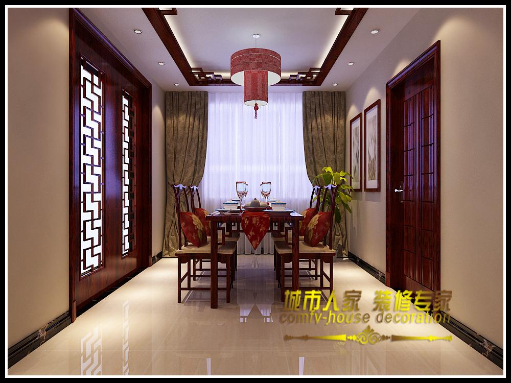 三居 简约中式 海龙湾 海棠湾 餐厅图片来自石家庄装修装饰设计公司在时光回朔 享受安宁的分享