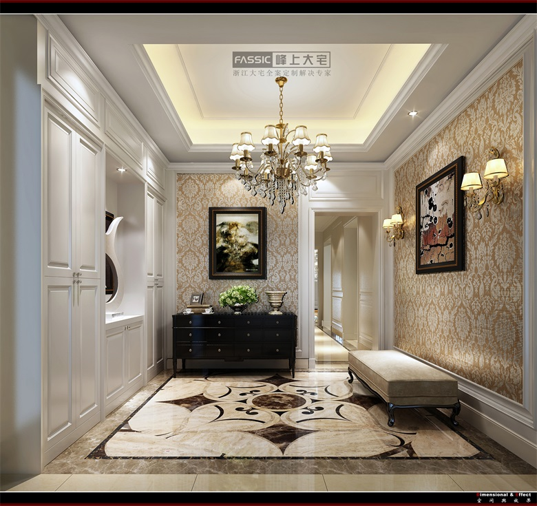 玄关图片来自建极峰上大宅装饰杭州公司在柯桥嘉华馥园欧式风格的分享
