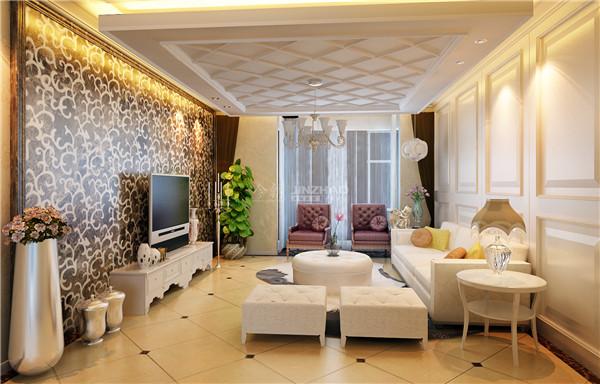 简约 三居 白领 小资 80后 客厅图片来自西安今朝装饰设计有限公司在倾城日光的分享