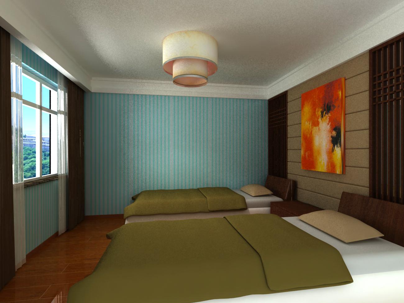 卧室图片来自石俊全在密云太师屯别墅效果图的分享