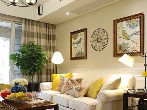 二居 旧房改造 石景山 美式 80后 客厅图片来自今朝装饰老房装修通王在4.2万打造90平美式婚房的分享