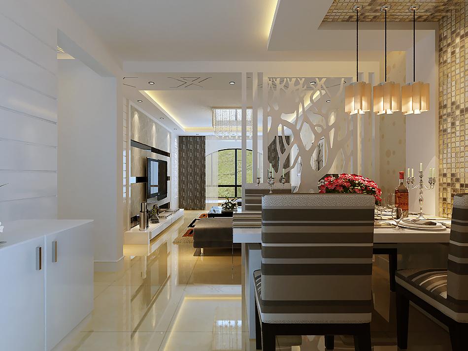 简约 一居 餐厅图片来自实创装饰上海公司在49平小户型先现代简约风格的分享