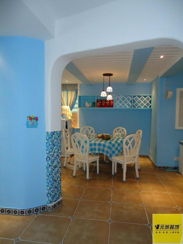 地中海 蓝色色调 餐厅图片来自框框在清新地中海设计的分享