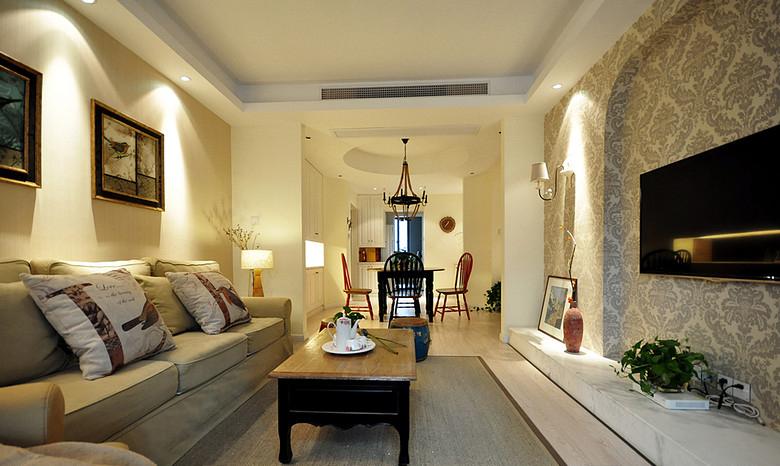 客厅图片来自家装大管家在清浅色彩温馨 96平美式休闲居的分享