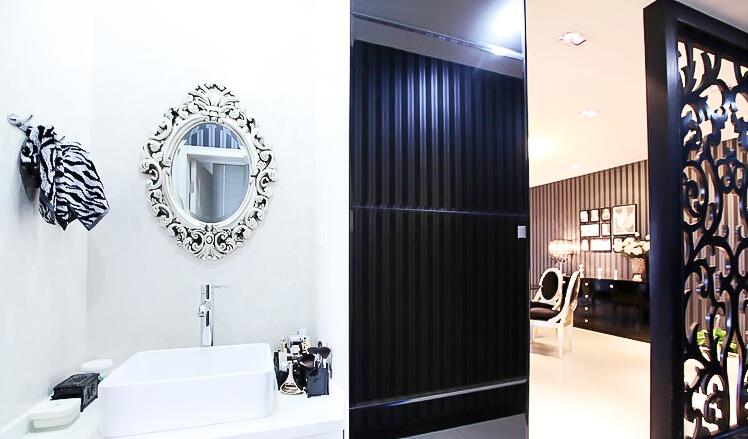 新古典风格 四居室装修 原木家具 环保材料 164㎡装修 实用收纳 卫生间图片来自居佳祥和装饰在异类黑色164㎡黑色新古典装修的分享