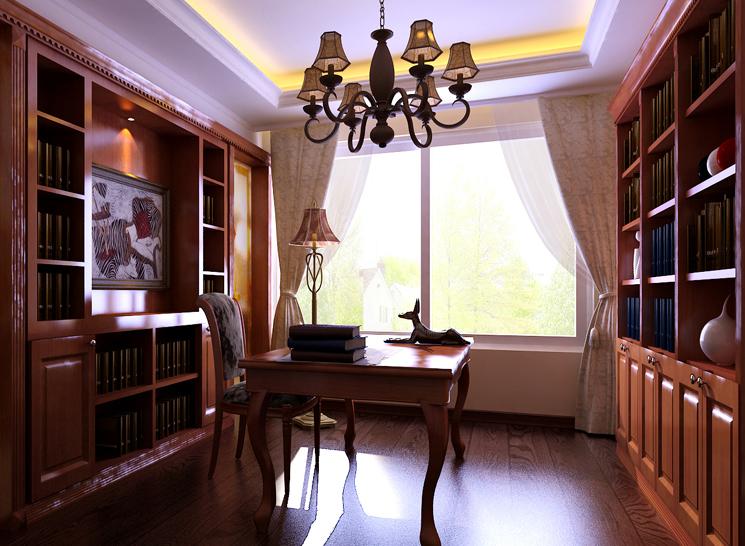 欧式 收纳 三居 小资 书房图片来自博洛尼整体家装Q在华润橡树湾-欧式古典-时尚而奢华的分享