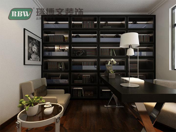书房图片来自石家庄瑞博文装饰小然在西山绿岛110平现代简约的分享