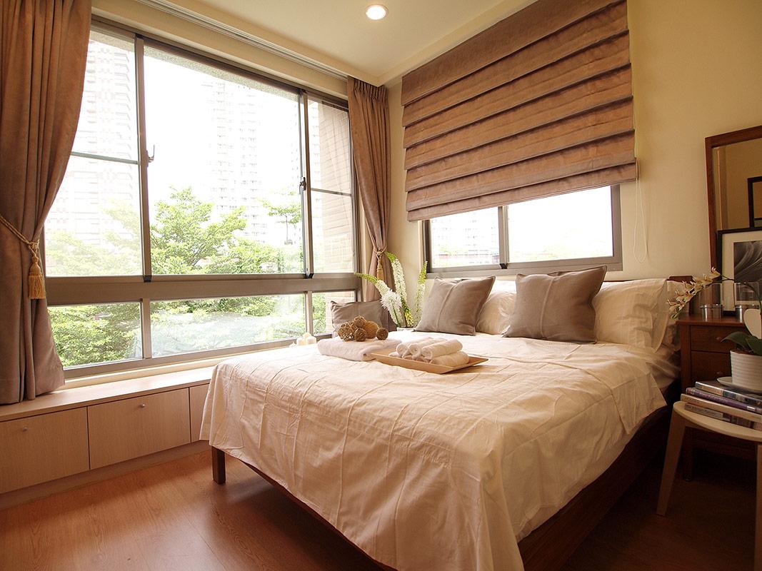 宝蓝装饰 琴台墨园 现代简约 80后 小资 卧室图片来自众意装饰在新长江香榭琴台墨园的分享