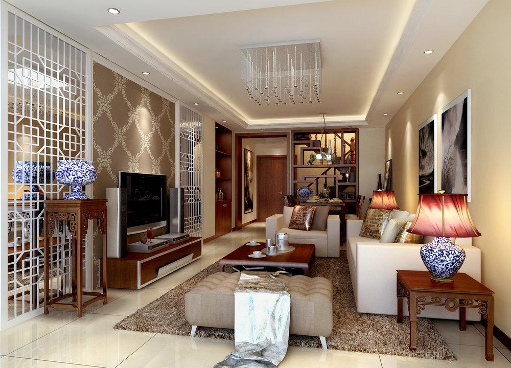 复式 新中式 三居 客厅图片来自实创装饰晶晶在【实创装饰】复式新中式活力设计的分享