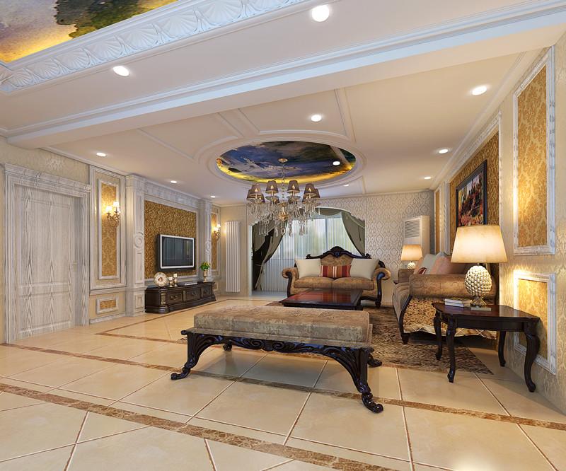 三居 欧式 客厅图片来自轻舟装饰-90后的华仔在四合上院-200平米-欧式风格的分享