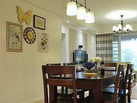 二居 旧房改造 石景山 美式 80后 餐厅图片来自今朝装饰老房装修通王在4.2万打造90平美式婚房的分享