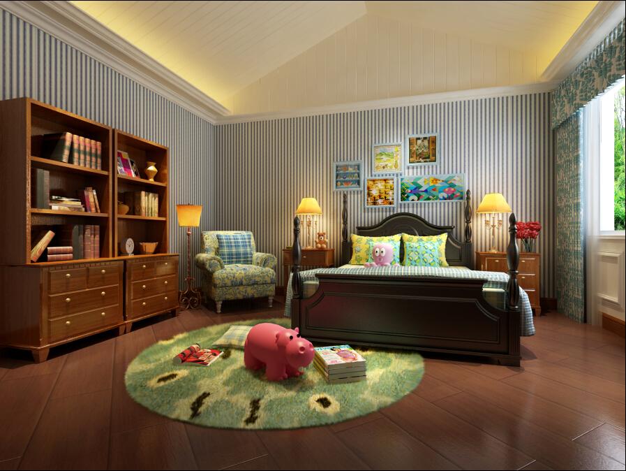 欧式 别墅 新古典 儿童房图片来自一级-装家兵在领秀别墅的分享
