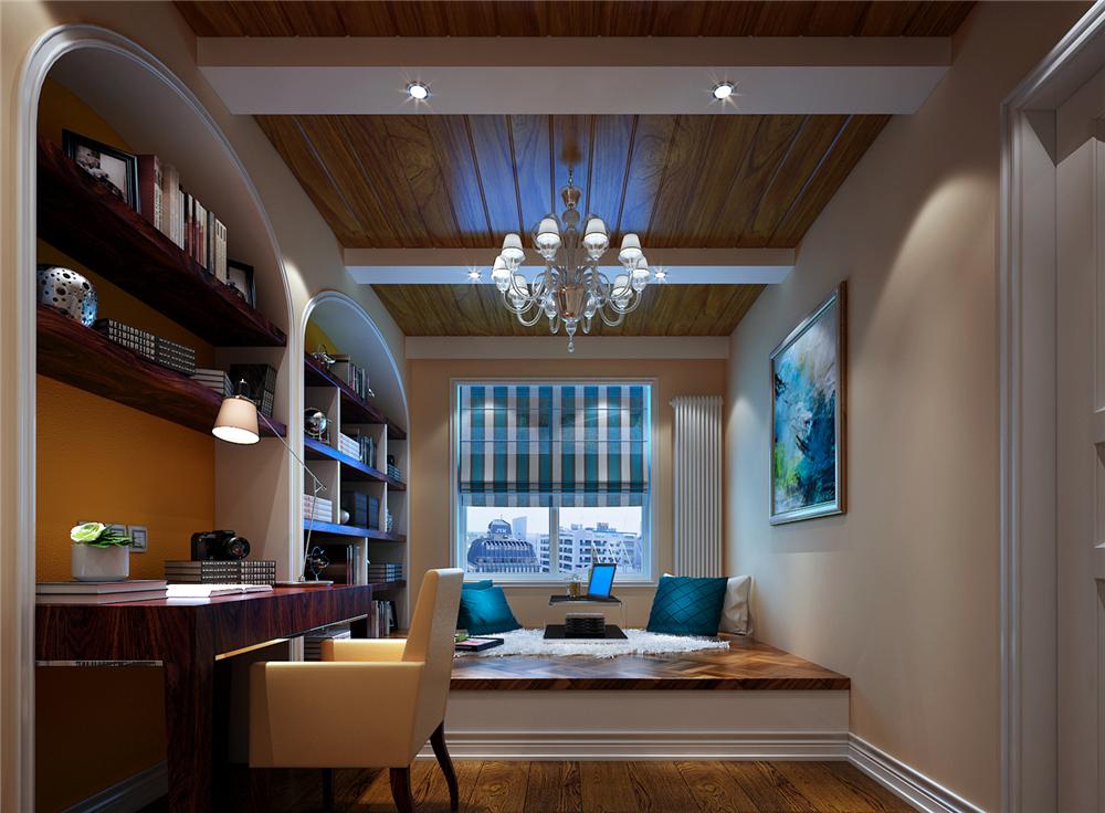 欧式 三居 白领 收纳 80后 小资 书房图片来自实创装饰完美家装在恋日家园140平简欧风格案例赏析的分享