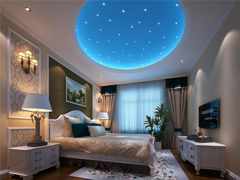 欧式 三居 白领 收纳 80后 小资 卧室图片来自实创装饰完美家装在恋日家园140平简欧风格案例赏析的分享