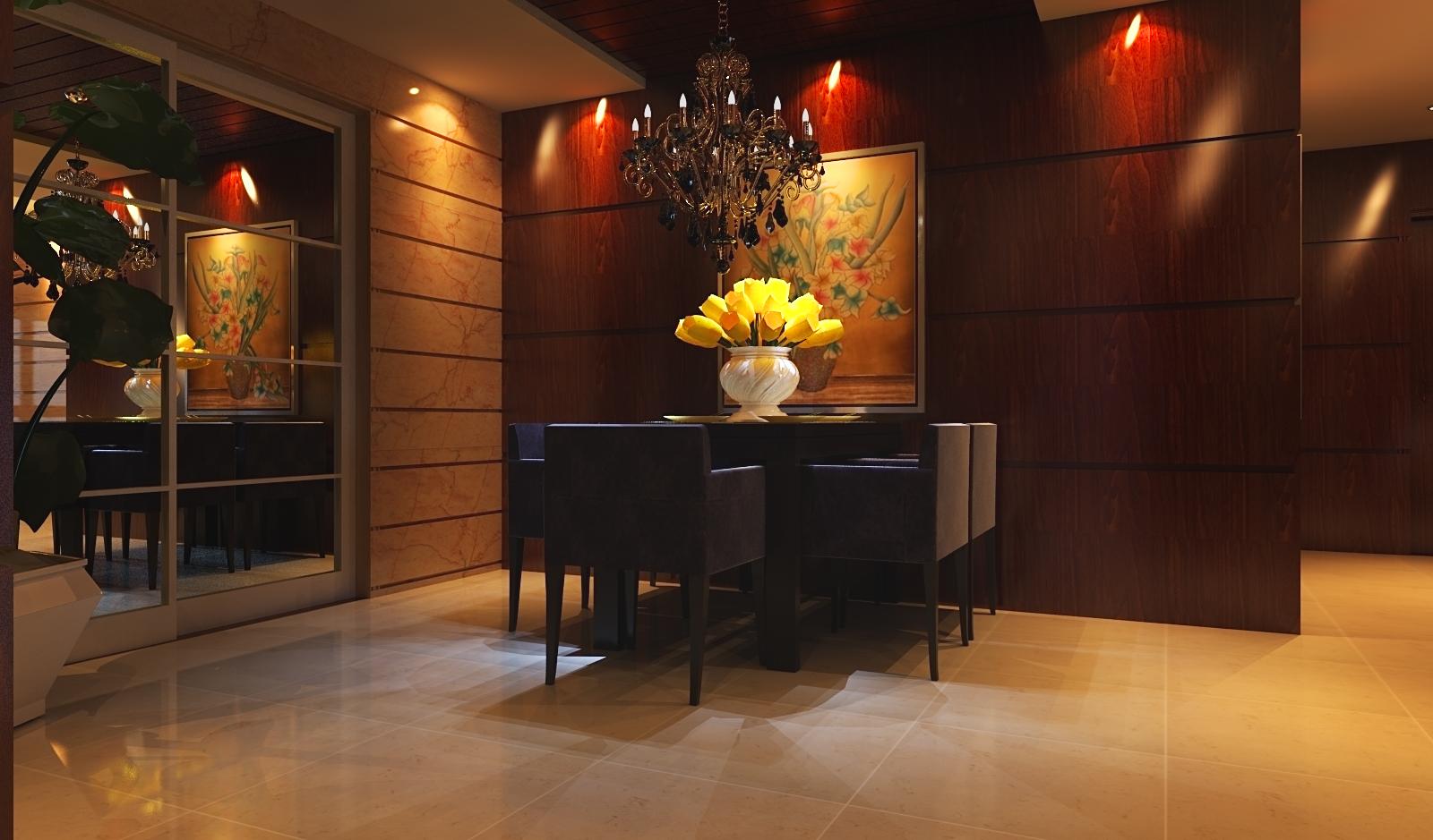 新中式,简 三居 收纳 白领 餐厅图片来自富有世纪装饰河南公司在正商明钻的分享