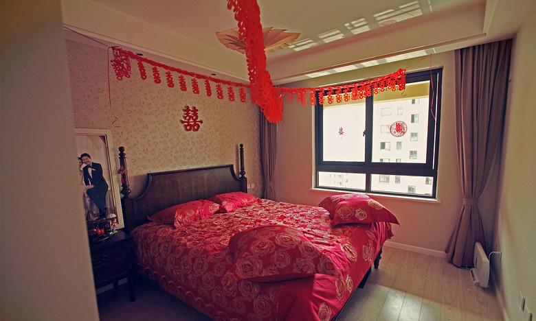 卧室图片来自家装大管家在清浅色彩温馨 96平美式休闲居的分享