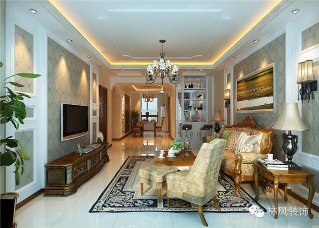 欧式 古典 混搭 客厅图片来自沈阳林凤装饰装修公司在远洋公馆的分享