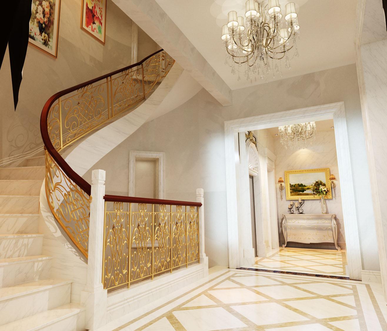 楼梯图片来自石俊全在远洋天著的分享