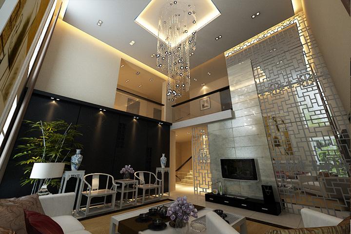 新中式 三居 客厅 卧室 厨房 餐厅图片来自石家庄业之峰装饰在国大御温泉新中式风格装修效果图的分享