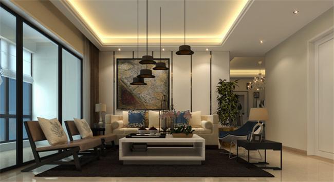 现代简约 三居室 客厅图片来自湖南名匠装饰在楚天雅郡现代风的分享
