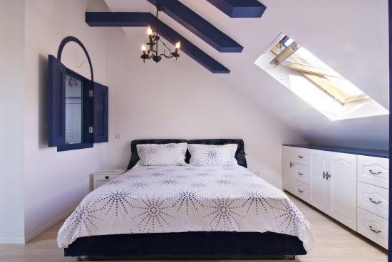 地中海 顶层 卧室图片来自框框在地中海风格明亮、大胆、色彩丰富的分享