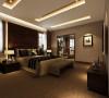 此房间为业主的居住空间,所以整体的装饰和色调稳重大气。