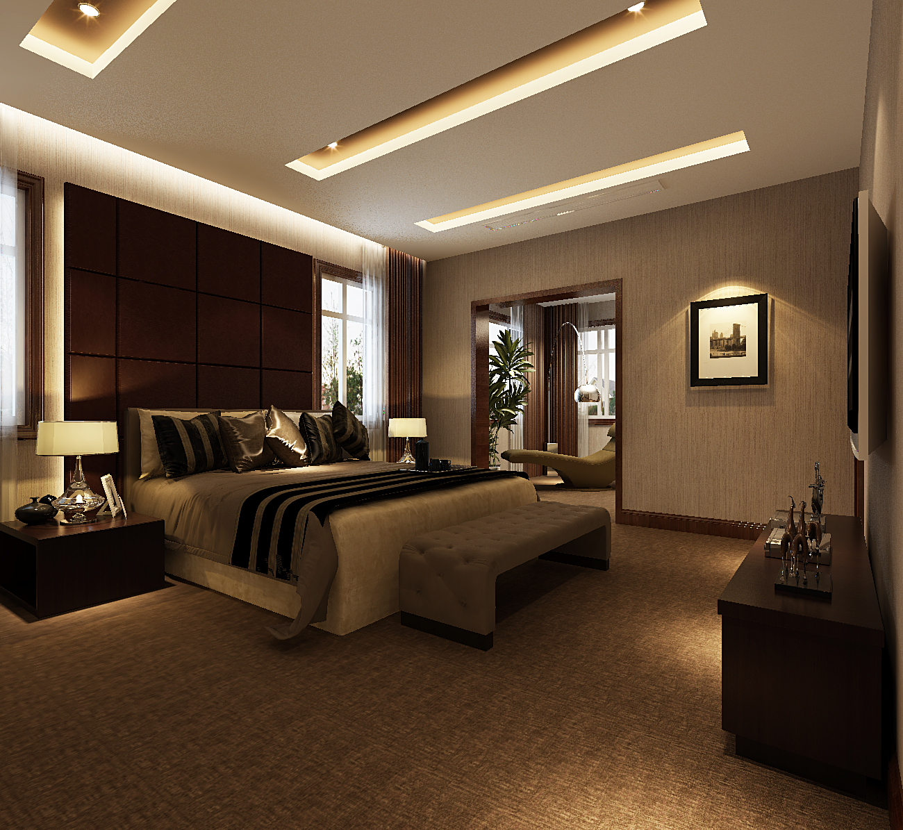 简约 别墅 小资 白领 卧室图片来自元洲装饰小左在亦庄别墅245平现代风格的分享