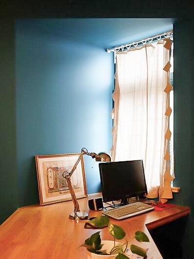 94㎡装修 混搭风格 实用收纳 原木家具 环保材料 布艺家纺 旧房改造 书房图片来自居佳祥和装饰在北欧宜家94㎡混搭清新装修的分享