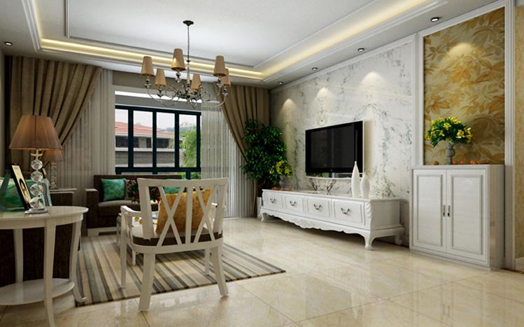 简约 四居室 客厅图片来自郑州实创装饰-杨淑平在警察学院家属院四居室装修效果图的分享