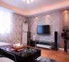 客厅墙面以墙纸为主,既美观又省钱