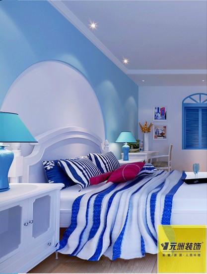地中海 蓝色色调 卧室图片来自框框在清新地中海设计的分享