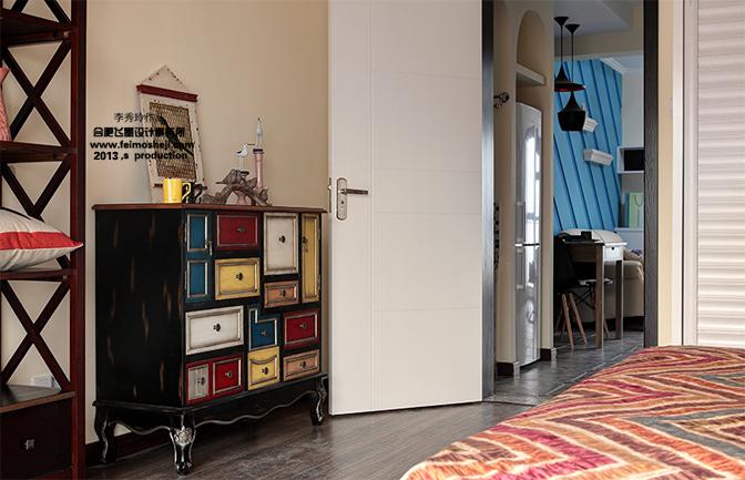80后 小资 白领 卧室图片来自合肥飞墨李秀玲设计在小空间的华丽转身——迷情小调的分享