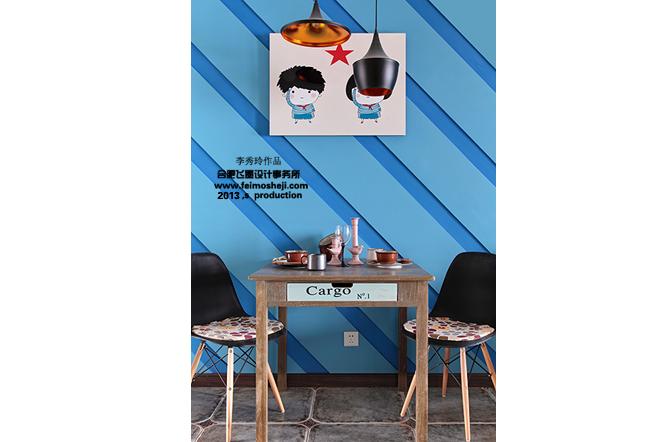 80后 小资 白领 餐厅图片来自合肥飞墨李秀玲设计在小空间的华丽转身——迷情小调的分享