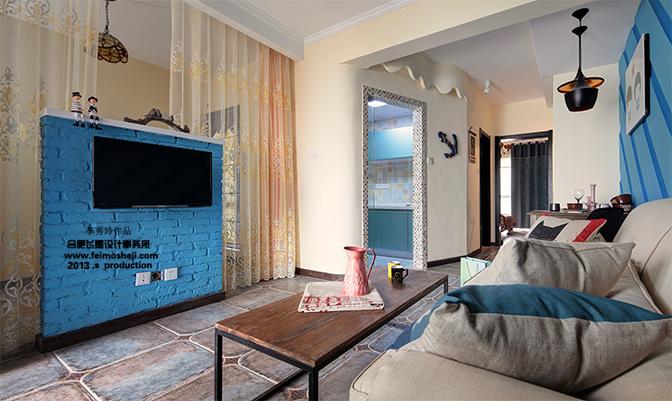 80后 小资 白领 客厅图片来自合肥飞墨李秀玲设计在小空间的华丽转身——迷情小调的分享